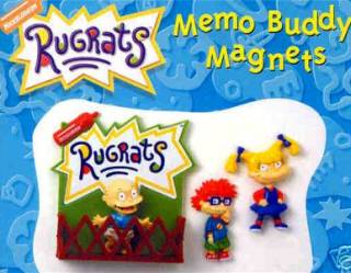Nickelodeon Cartoon Television Character Collectibles - Rugrats - Angelica, Tommy, Chuckie Magnets Set