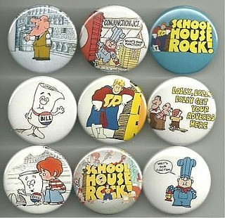 Cartoon Collectibles - Schoolhouse Rock Pinback Buttons