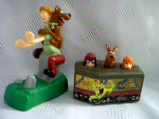 Scooby Doo Collectibles - Scooby Doo, Shaggy, Velma and Daphne Friction Rolling Figures