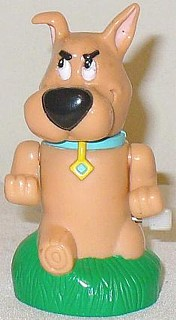 Scooby Doo Collectibles - Scrappy Doo Wind-Up White Knob Walker Figure