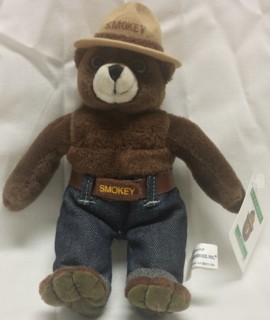 Smokey The Bear - U.S. Forest Service - Beanie Beanbag Doll