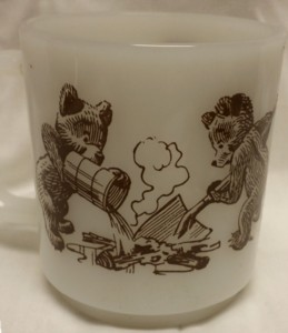Smokey The Bear - U.S. Forest Service - Milk Glass Mug