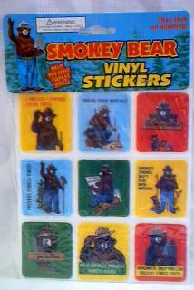 Smokey The Bear - U.S. Forest Service - Vinyl Stickers