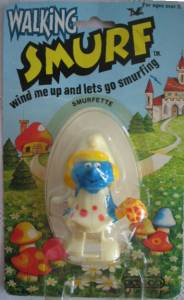 Smurf Collectibles - Smurfette Windup Walker Figure