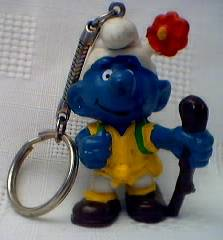 Smurf Collectibles - Smurf Hiker Keychain Keyring