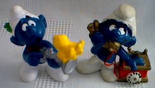 Smurf Collectibles - Smurf Figures Hunter Musket Gun Telephone