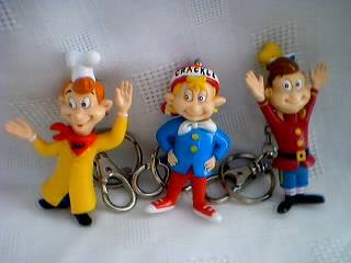 Kellogg's Collectibles - Snap, Crackle and Pop Figure Keychains - Rice Krispies