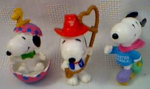 Snoopy Collectibles - Snoopy Whitman's Figures Easter and Valentine