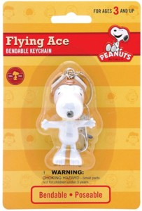 Snoopy and Peanuts Collectibles - Snoopy Flying Ace Bendy Keychain