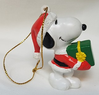 Snoopy and Peanuts Collectibles - Snoopy Christmas Whitmans Gift PVC Ornament