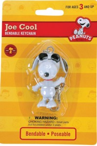 Snoopy and Peanuts Collectibles - Snoopy Joe Cool Bendy Keychain