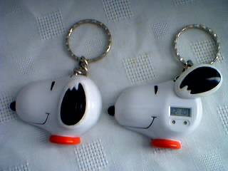 Snoopy Collectibles - Snoopy LCD Clock or Watch & Keychain