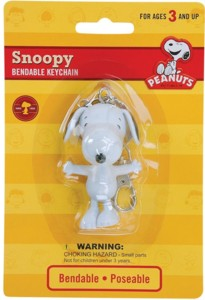 Snoopy and Peanuts Collectibles - Snoopy Bendy Keychain