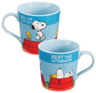 Snoopy and Peanuts Collectibles - Snoopy Mug Live for Today Rest this afternoon cermic mug
