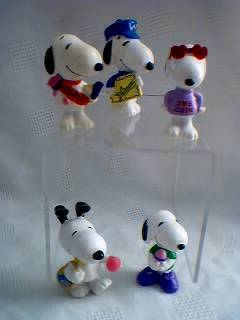 Peanuts Gang Collectibles - Snoopy Easter and Valentines Whitman's Figures