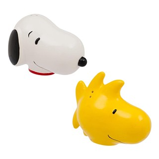 Snoopy and Peanuts Collectibles - Snoopy and Woodstock Ceramic Salt and Pepper Shakers