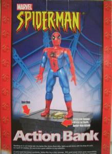 Super Hero Collectibles - Spiderman Action Bank