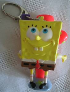 Cartoon Television Character Collectibles - Sponge Bob Square Pants Flash Light Key Chain