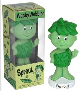 Advertising Collectibles - Green Giant - Lil Sprout Bobble Head Nodder Doll