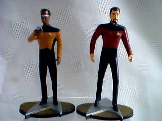 Star Trek Collectibles -The Next Generation Figures Riker and La Forge