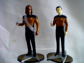 Star Trek Collectibles -The Next Generation Figures Worf and Data