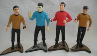 Star Trek Collectibles - Chekov Scott Sulu Spock