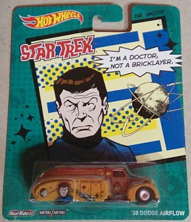 Star Trek Collectibles - Dr. McCoy Hot Wheels Real Riders