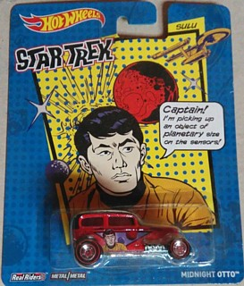 Star Trek Collectibles - Sulu Hot Wheels Real Riders