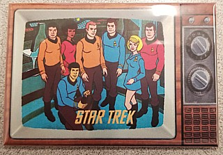 Star Trek Collectibles - Cartoon Series Metal TV Magnet