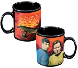 Star Trek Collectibles - USS Enterprise Spock and Kirk Warp Speed Mug