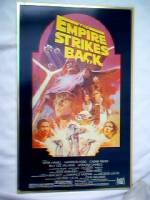 Star Wars Collectibles - Empire Strikes Back Movie Poster Reprint on Metal