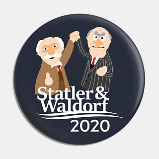 Muppets Collectibles - Statler & Waldorf 2020 Pinback Button
