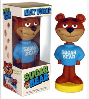 Cereal Collectibles - Sugar Bear Bobble Head Doll Nodder
