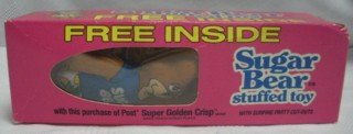 Cereal Collectibles - Sugar Bear Super Golden Crisp Mini Plush Bear Toy