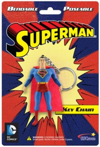 Super Hero Collectibles - Super Man Bendy Keychain