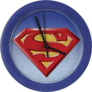 Super Hero Character Collectibles Superman Clock