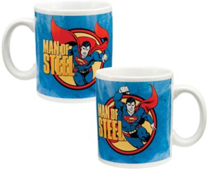Super Hero Collectibles - Super Man Man of Steel Ceramic Mug