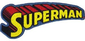Super Hero Collectibles - Super Man Logo Iron On Patch
