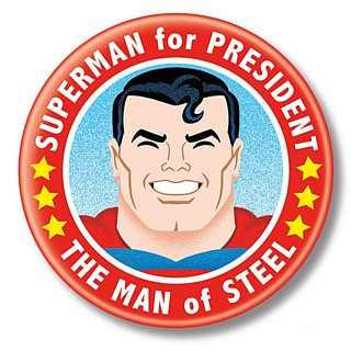 Cartoon Collectibles - DC Comics Superman for President Pinback Button