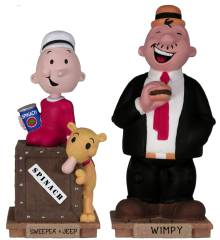 Popeye Collectibles - Swee Pea, Jeep and Wimpy Wacky Wobbler Bobble head doll, nodder