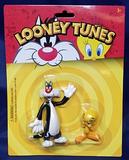 Looney Tunes Collectibles - Sylvester and Tweety Bird Bendable Figures