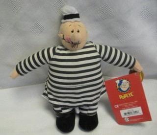 Popeye Collectibles - Convict Wimpy Jail Stuffed Plush Doll