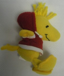 Snoopy Collectibles - Woodstock Christmas Plush