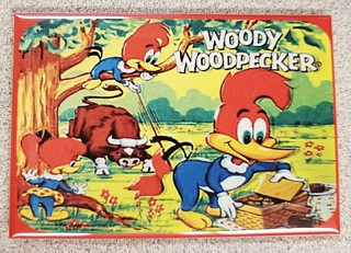 Cartoon Collectibles - Woody Woodpecker Metal Magnet