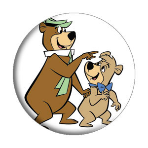 Hanna Barbera Collectibles - Yogi Bear and BooBoo Bear Pinback Button