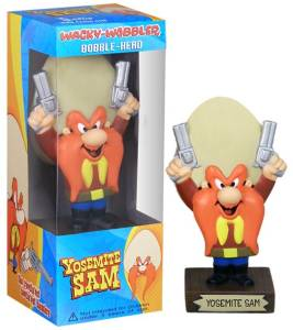 Looney Tunes Collectibles - Yosemite Sam Bobble head Doll Nodder