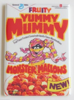 General Mills Cereal Collectibles - Monster Cereal Yummy Mummy Magnet