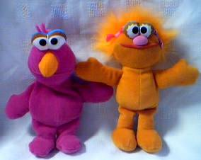 Sesame Street - Telly Monster and Zoe Beanie